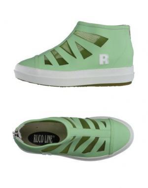 Высокие кеды и кроссовки RUCO LINE. Цвет: светло-зеленый