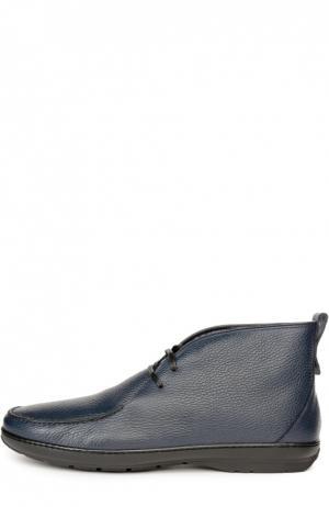 Кожаные полуботинки с меховой стелькой Aldo Brue. Цвет: синий