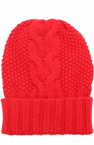 Шапка фактурной вязки из кашемира Kashja` Cashmere. Цвет: красный