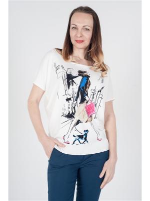 Блуза ОДЕКС-СТИЛЬ. Цвет: белый