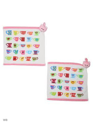 Набор салфеток для кухни - 2шт. (33*33) Dorothy's Нome. Цвет: белый, красный, розовый