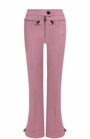 Расклешенные спортивные брюки со стрелками Moncler. Цвет: розовый