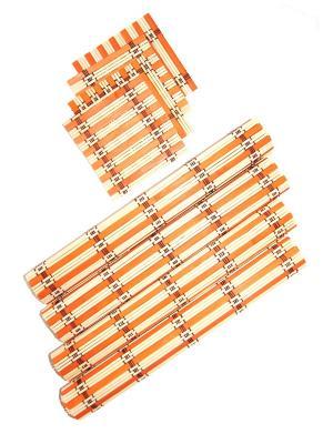 Бамбуковые плейсматы, 8 шт DiMi. Цвет: оранжевый
