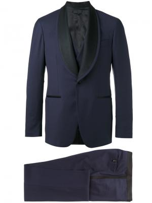 Contrast lapel dinner suit Gabriele Pasini. Цвет: синий