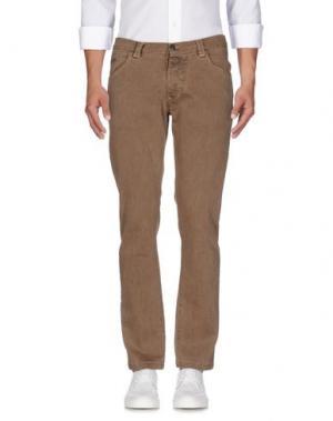 Джинсовые брюки BARBATI. Цвет: коричневый