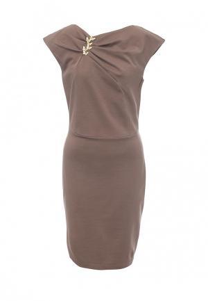 Платье Bezko. Цвет: бежевый