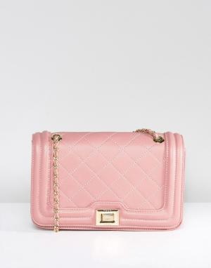 Marc B Розоватая стеганая сумка через плечо Clarissa. Цвет: розовый