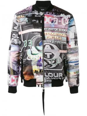 Куртка-бомбер ITN Blood Brother. Цвет: чёрный