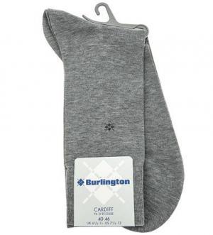 Серые хлопковые носки Burlington. Цвет: серый
