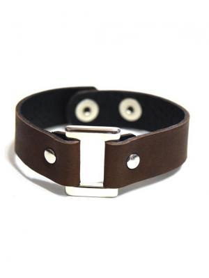 Кожаный браслет TRONIN. Цвет: темно-коричневый