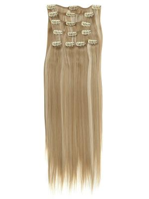 Накладные волосы, пряди на заколках-клипсах Lika VIP-PARIK. Цвет: светло-коричневый, светло-бежевый, светло-желтый
