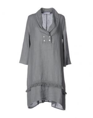 Короткое платье LA FABBRICA del LINO. Цвет: светло-серый