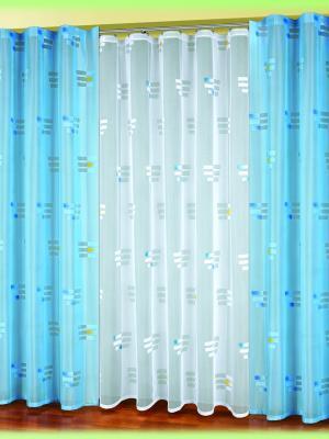 Комплект штор Haft. Цвет: голубой, белый