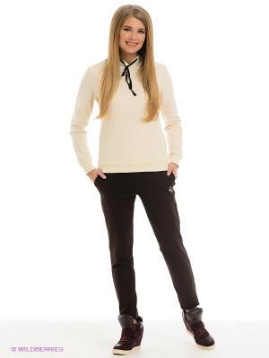 Спортивный костюм Runika. Цвет: молочный, коричневый
