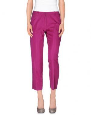 Повседневные брюки N_8. Цвет: светло-фиолетовый