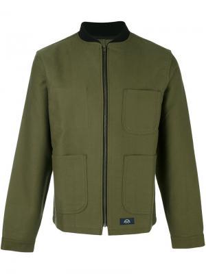 Куртка на молнии Bleu De Paname. Цвет: зелёный