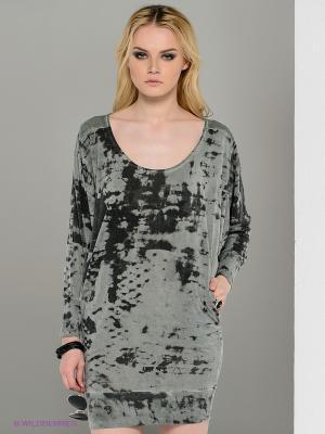 Платье Religion. Цвет: светло-серый, серый