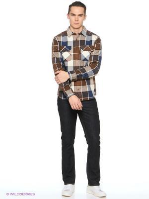 Рубашка DC Shoes. Цвет: темно-коричневый, бронзовый, антрацитовый