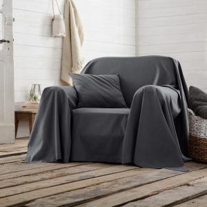 Покрывало для кресла или дивана однотонное SCENARIO. Цвет: серо-коричневый,сливовый,экрю
