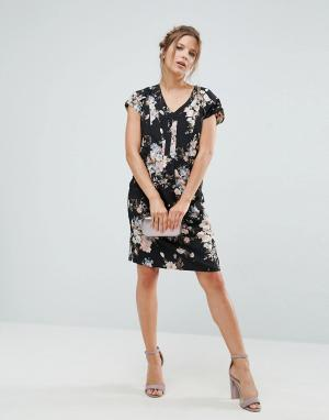 Uttam Boutique Floral Shift Dress. Цвет: черный
