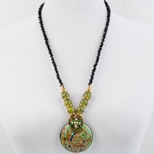 Кулон Венеция муранское стекло, арт. пд-кам2311-GWL Бусики-Колечки. Цвет: зеленый