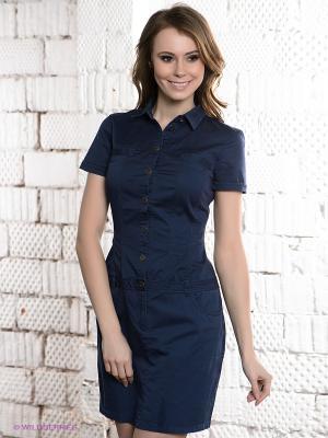 Платье CONVER. Цвет: темно-синий
