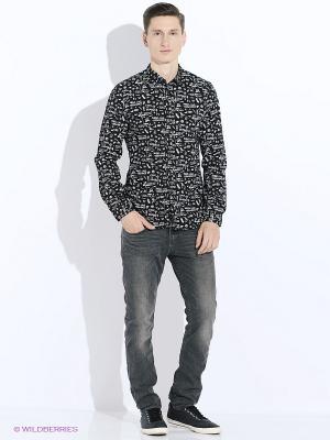 Рубашка TOM TAILOR. Цвет: черный, белый