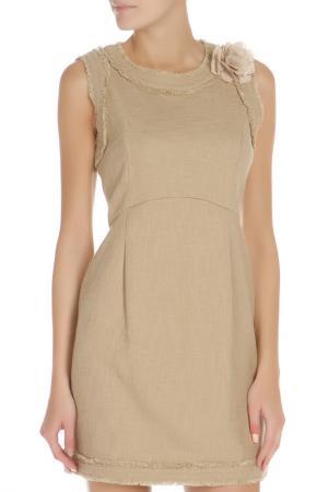Полуприлегающее платье без рукавов Liu Jo. Цвет: бежевый