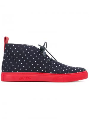 Ботинки с узором в горох и шнуровкой Del Toro Shoes. Цвет: синий