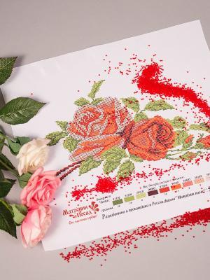 Рисунок на шелке Матренин Посад. Цвет: белый, красный