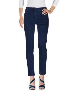 Джинсовые брюки CORTE dei GONZAGA. Цвет: синий