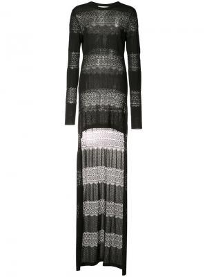 High low knit top Antonio Berardi. Цвет: чёрный