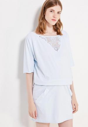 Платье 9fashion Woman. Цвет: голубой