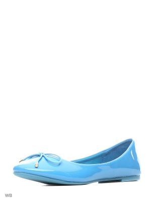 Балетки Sparkling. Цвет: голубой