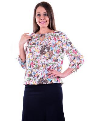 Блузка женская OLBE. Цвет: бежевый, белый, желтый