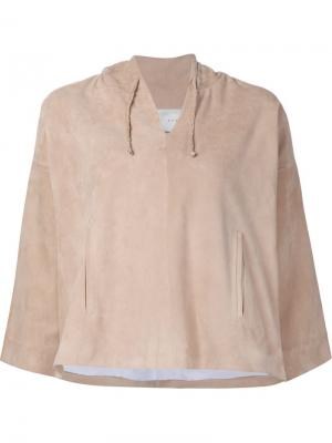 Расклешенная блузка Jeffrey Dodd. Цвет: телесный