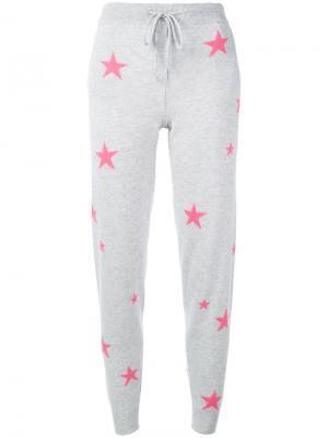 Спортивные брюки со звездами Chinti And Parker. Цвет: серый