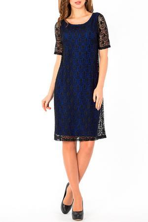 Платье S&A style. Цвет: васильково-черный