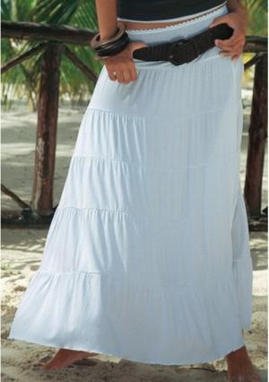 Длинная юбка BEACH TIME. Цвет: белый, коричневый, серо-коричневый, черный