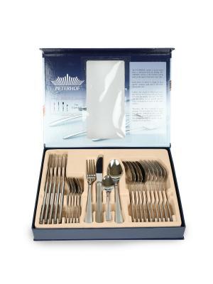 Столовый набор 24 предмета, подарочная упаковка Peterhof. Цвет: серебристый
