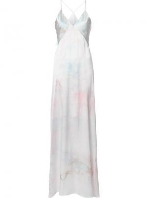 Вечернее платье с V-образным вырезом Galvan. Цвет: белый
