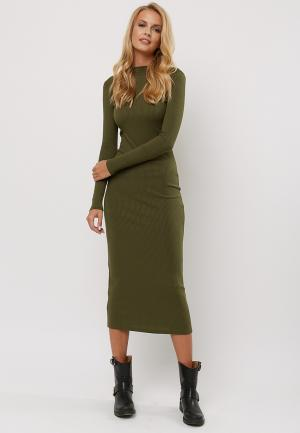 Платье Verna Sebe. Цвет: хаки