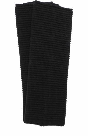 Вязаные рукава из смеси шерсти и кашемира Inverni. Цвет: черный
