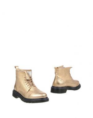 Полусапоги и высокие ботинки LE QARANT. Цвет: золотистый