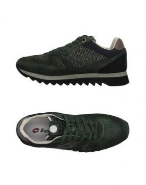 Низкие кеды и кроссовки LOTTO LEGGENDA. Цвет: темно-зеленый
