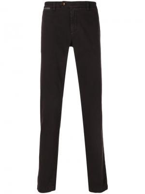 Узкие брюки-чинос Eleventy. Цвет: красный