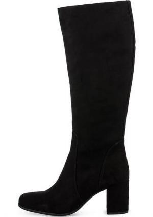 Замшевые сапоги на каблуке UNISA. Цвет: черный