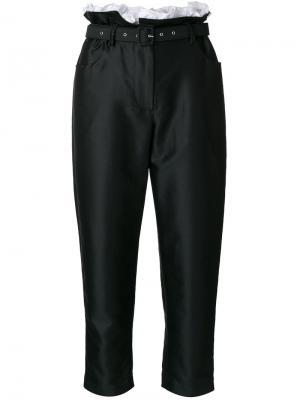 Укороченные брюки с мешковатой талией Isa Arfen. Цвет: чёрный