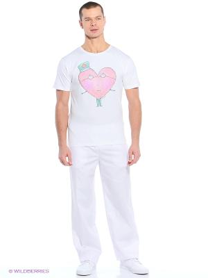 Футболка медицинская Med Fashion Lab. Цвет: белый, розовый