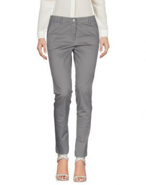 Повседневные брюки ROSSO35. Цвет: серый